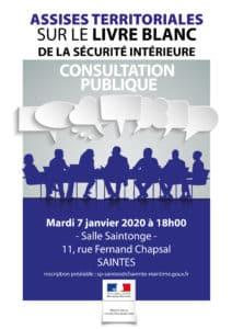 Assises territoriales sur le livre blanc de la sécurité intérieure @ salle saintonge