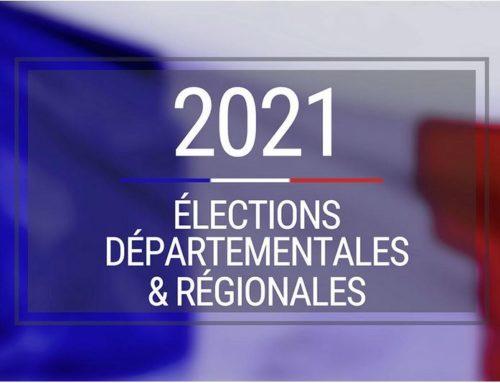 Élections départementales et régionales  20 et 27 juin 2021