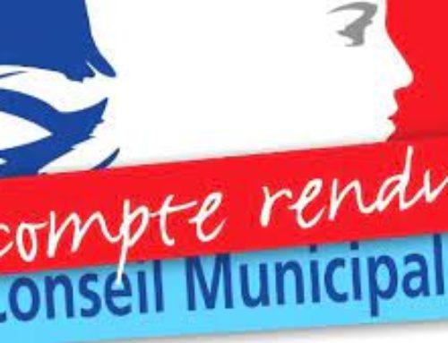 Compte-rendu du Conseil Municipal du 07 juillet 2021